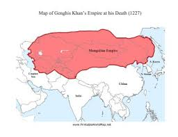 best genghis khan images genghis khan this printable asian map shows genghis khan s n empire at the time of his death in