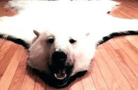 faux polar bear rug bear rug fake fake bear rug fake bear rugs with head polar faux polar bear rug