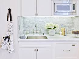 White On White Kitchen Marble Kitchen Countertop Options Hgtv