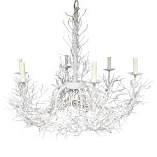 large white iron c chandelier circa 1970 for