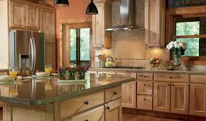 Rosewood Sage Green Prestige Door Natural Wood Kitchen Cabinets