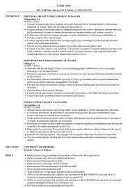 Purchase Officer Resume Format Procurement Resume Format Top