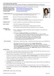Pr Consultant Sample Resume Communications Consultant Sample Resume Soaringeaglecasinous 14