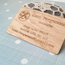 wooden business cards amazon com business cards set of 50 veneer business cards