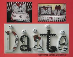 Nightmare Before Christmas Bedroom Decor Nightmare Before Christmas Nursery Wall Decor Letters Nbc Jack