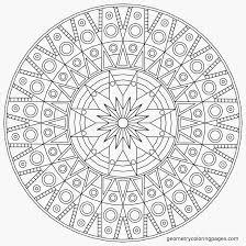 Dessin De Coloriage Mandalas Fleurs Imprimer Cp17217