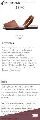Avarcas Size Chart List Of Pons Avarcas Style Sandals Pictures And Pons Avarcas