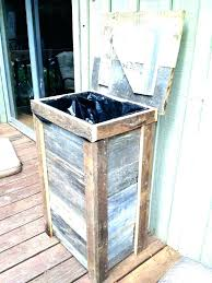 wood trash can holder wooden trash can holder trash can trash can ideas garbage