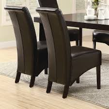 monarch specialties faux leather parsons chair set of 2 view larger