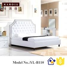 White Leather Bedroom Furniture Bed And Wooden Set – fullmeal