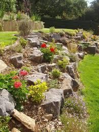 rock garden design sloped backyard