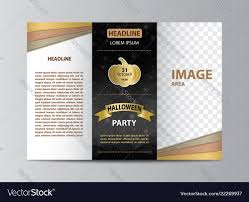 Brochure Trifold Template Free Tri Fold Brochure Template For Halloween Party