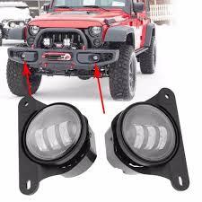 Mopar Fog Lights Jeep Wrangler Us 58 65 15 Off 2pcs 4 Inch Front Bumper Led Fog Light For Jeep Wrangler Unlimited Jk Dodg E Chrysler Magnum 12v 24v Car Driving Fog Lamp In Car