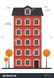 Apartment Building Vector At Getdrawingscom Free For Personal Use