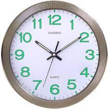CursOnline® Orologio da Parete al Quarzo Silenzioso Lancette e Numeri  Fluorescenti D.31cm, Cucina, Salotto, Ufficio Cod.667: Amazon.it:  Elettronica
