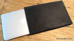macbook air gear autum straight jacket an insanely simple leather laptop sleeve