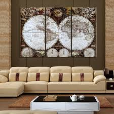 large 3 piece framed wall art