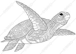 Small Picture Adult Coloring Pages Sea Turtle Zentangle Doodle Coloring Pages
