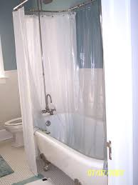 clawfoot tubs with showers how to make a tub shower curtain rod canada