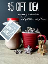 Simple Holiday: $5 gift idea for teachers and neighbors with printable tags
