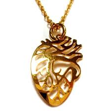 gold anatomical heart necklace amnh