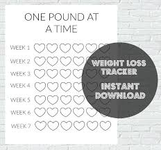 Weight Loss Colouring Chart Printable Pin On Charts
