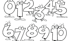 Number Coloring Page For Preschool Colouring Pages Numbers 1 20
