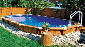 above ground swimming pool ideas. Fabulous Landscape Ideas For Backyard With Above Ground Swimming Pool Above Ground Swimming Pool Ideas