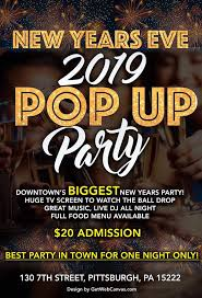 Pop Up Party New Years Eve 2019