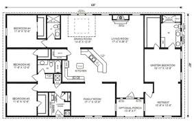 ranch house floor plans. Marvellous Inspiration Open Ranch House Plans With Porches 1 Floor 4 Bedroom Love This Simple No Watered