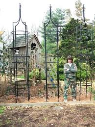 wrought iron garden trellis those long legs are 3 4 solid steel these 1 2 tall