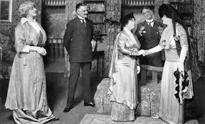 pyg on play  pickering in the london production philip merivale second from right played henry higgins opposite mrs patrick campbell right when pyg on was taken