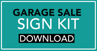 free garage sale signs garage sale sign kit free download garage sale blog