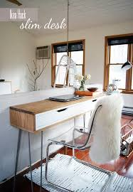 ideas for ikea furniture. ikea hack slim desk ideas for furniture