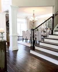 gorgeous staircase hardwood floors and color scheme