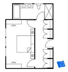 master bedroom with bathroom floor plans. Master Bedroom Floor Plan Where The Entrance Is Into A Vestibule Which Doubles As Closet With Bathroom Plans
