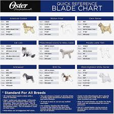 42 Studious Dog Clipper Blade Chart