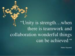 Quotes About Teamwork Amazing Teamwork Quotes Unity Is Strengthwhen There Is Teamwork And
