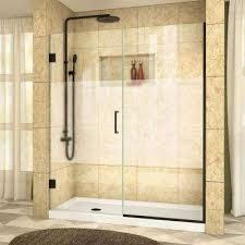 bathroom shower doors frosted. Exellent Shower Frameless Hinged Shower Door With Half Frosted On Bathroom Doors O