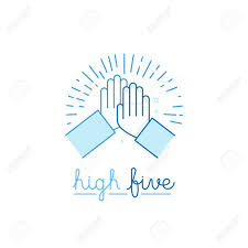 High Five Design Vector Illustration In Flat Style High Five Two Hands Giving