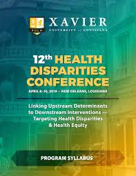 Xula Cop 12th Health Disparities Conference Program Syllabus