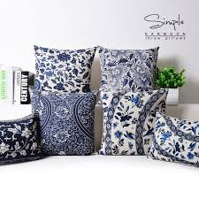 blue and white pillows. Interesting White Oriental Floral Cushion Cover Blue White Chinese Style Throw Lumbar Pillow  Case Sham Linen Decorative Country Throughout And Pillows