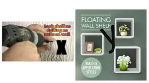 hanging shelves without nails lack shelf no drilling no nails on wall