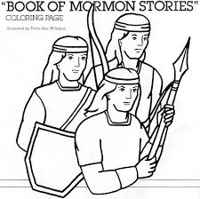 Small Picture Book of Mormon Stories Coloring Page friend