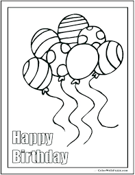 Birthday Coloring Pages Printable Happy Birthday Coloring Pages For
