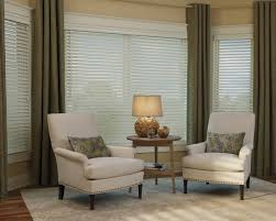 ... Excellent Window Treatment Design And Decoration With Valance Over  Blinds : Contemporary Living Room Decoration Using ...