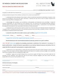 Pet Sitter Information Form Medical Consent Release Form All About Purrs