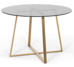 dining beautiful glass round top table elegant set white room