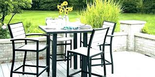3 piece outdoor bar height bistro set patio counter furniture dining