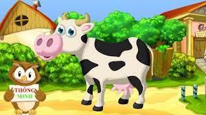Con Bò   Con Trâu   Dạy bé học nói con vật nuôi qua hình ảnh vui nhộn -  YouTube